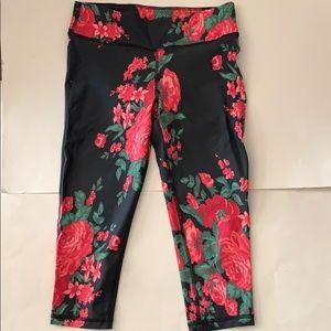 albion floral capri leggings